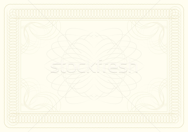 Certificato diploma altro design stampa documento Foto d'archivio © mtmmarek