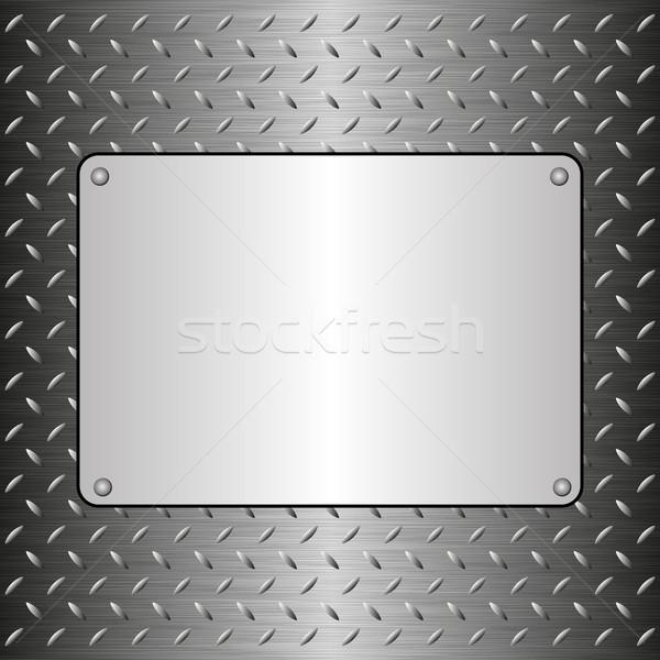 Fémes fogkő acél lap textúra terv Stock fotó © mtmmarek