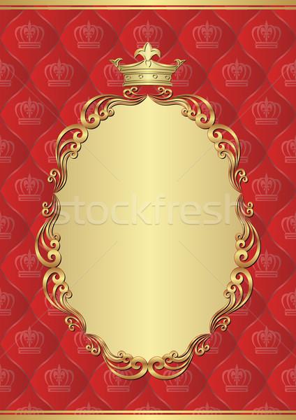 королевский кадр фон звезды Vintage Сток-фото © mtmmarek