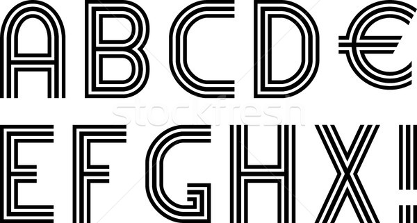 フォント 3  行 デザイン バー 手紙 ストックフォト © mtmmarek