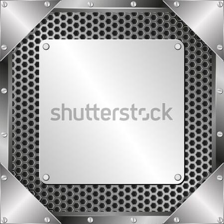 Metall Stahl Plaque Textur Muster Eisen Stock foto © mtmmarek