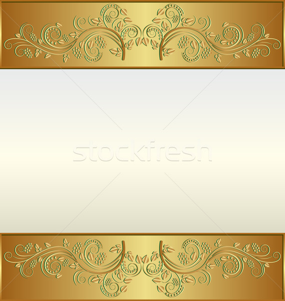 golden frame Stock photo © mtmmarek