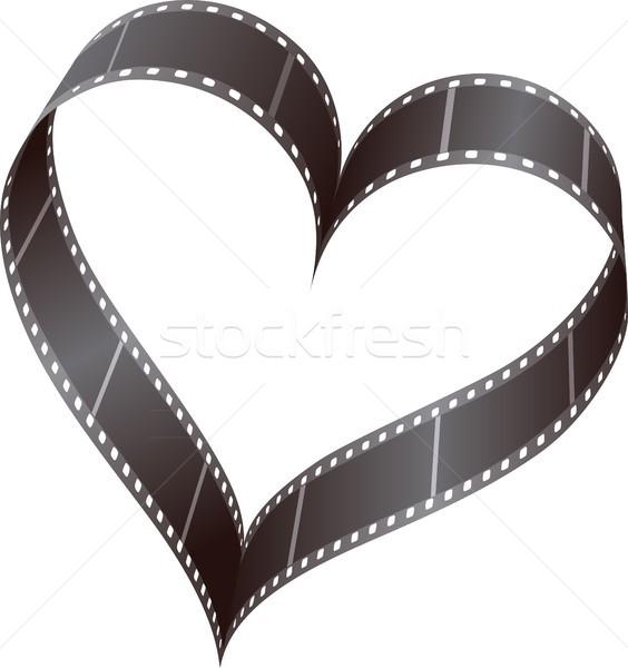 Szív filmszalag szív alak szeretet film terv Stock fotó © mtmmarek