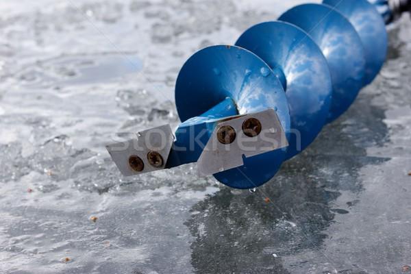 ice auger Stock photo © mtmmarek