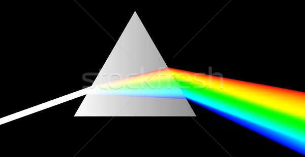 Prisma bianco luce vetro Rainbow colori Foto d'archivio © mtmmarek