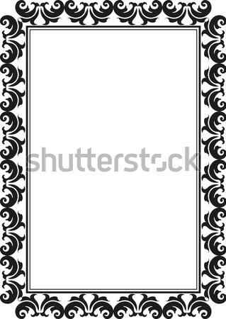 Rechthoekig frame silhouet decoratief abstract achtergrond Stockfoto © mtmmarek