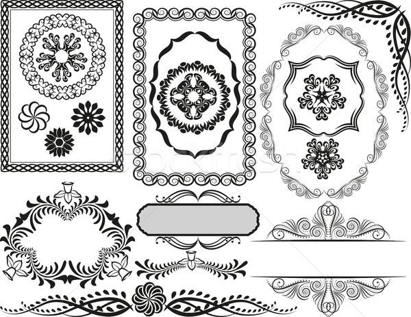 кадры набор декоративный украшения цветок Сток-фото © mtmmarek