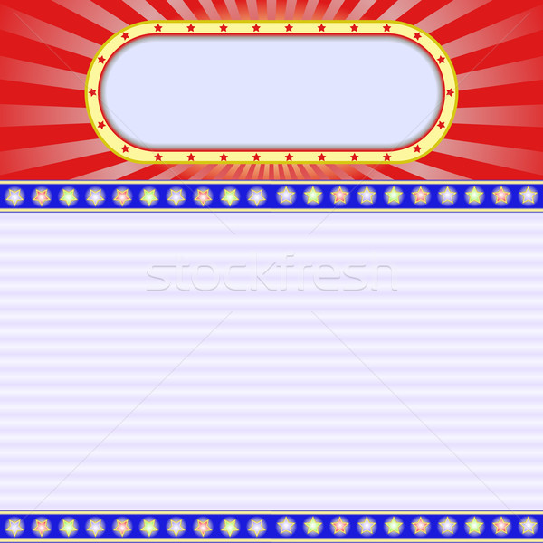 Tle neon gwiazdki teatr czerwony kina Zdjęcia stock © mtmmarek