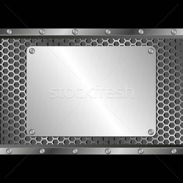 Ezüst fogkő fekete textúra terv technológia Stock fotó © mtmmarek