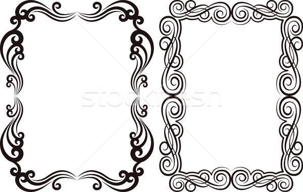 Dekoracyjny ramki prostokątny tekstury tle ramki Zdjęcia stock © mtmmarek