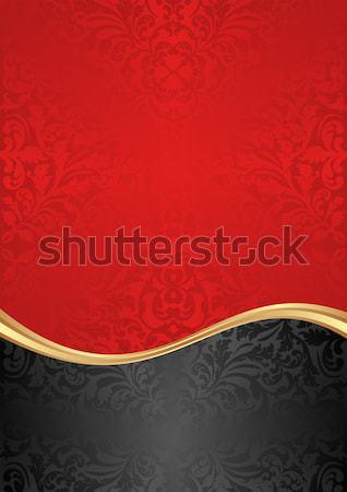 Piros fekete hullám stílus szöveg természetes Stock fotó © mtmmarek