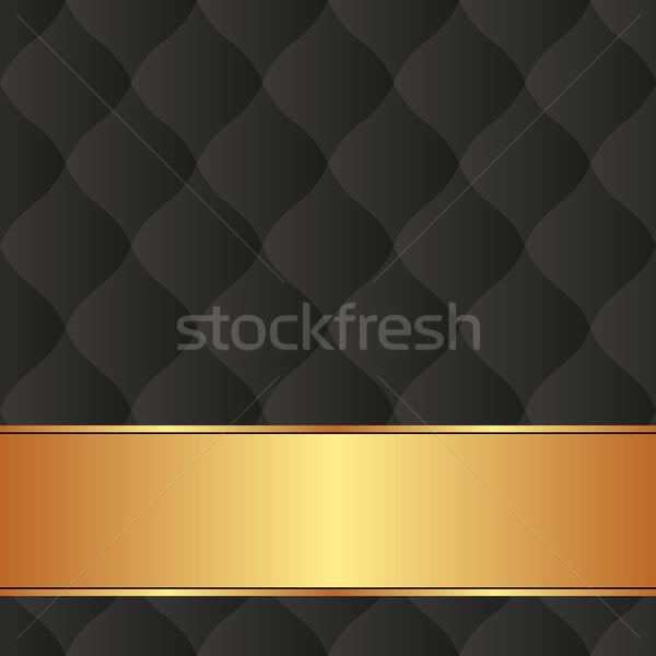 Fekete arany szalag textúra absztrakt háttér Stock fotó © mtmmarek