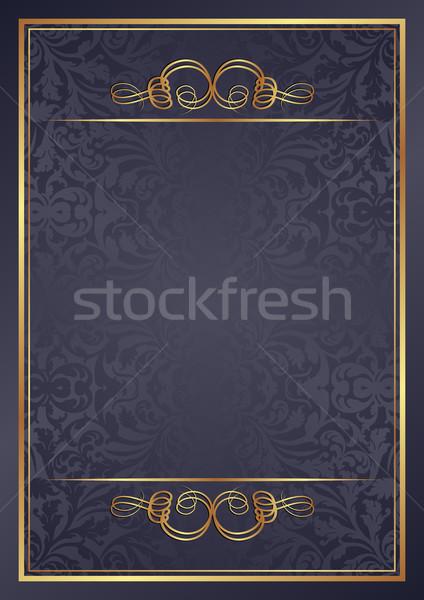 Grafiet gouden ornamenten textuur abstract ontwerp Stockfoto © mtmmarek