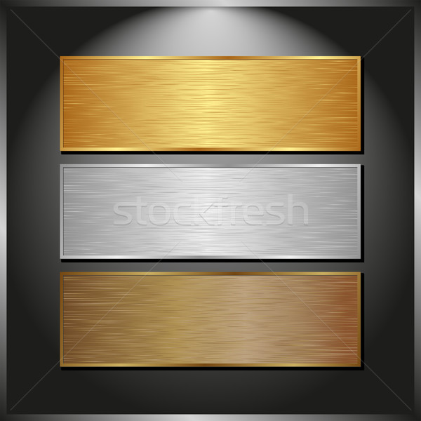 metallic banners Stock photo © mtmmarek