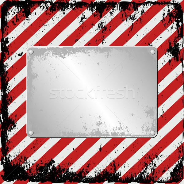 Gefahr Plaque Zeichen rot Platte Bord Stock foto © mtmmarek