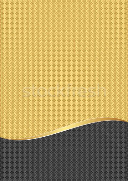 Geel grafiet textuur frame golf graphics Stockfoto © mtmmarek