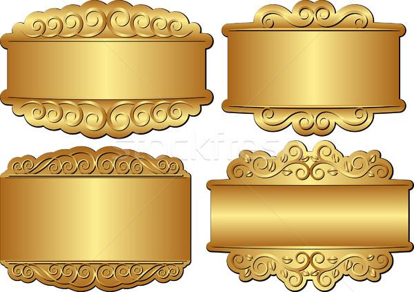 golden banners  Stock photo © mtmmarek