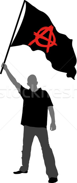 anarchy flag Stock photo © mtmmarek