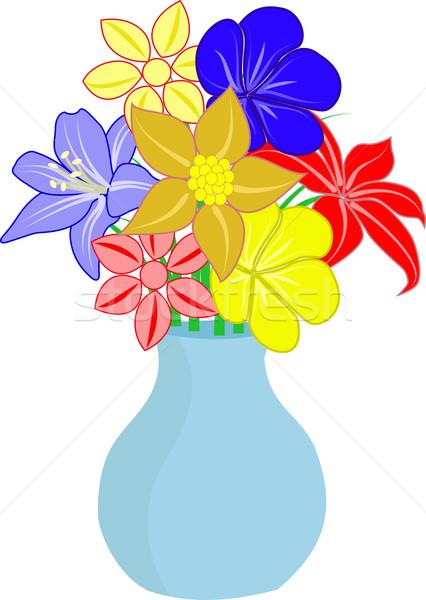 Fiori vaso bouquet fiore primavera natura Foto d'archivio © mtmmarek