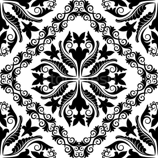 Barroco padrão sem costura textura projeto fundo Foto stock © mtmmarek