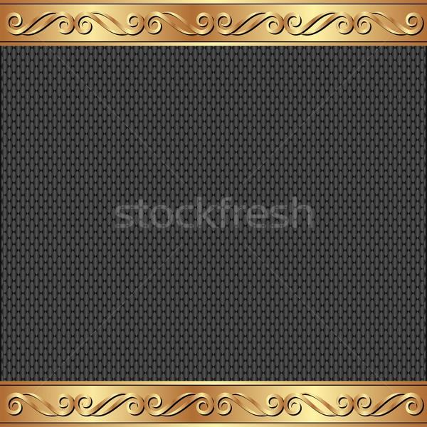 Złoty ozdoby tle czarny karty Zdjęcia stock © mtmmarek