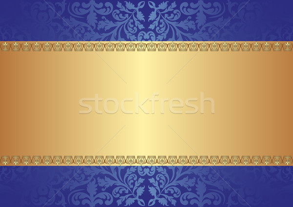 gold blue background Stock photo © mtmmarek