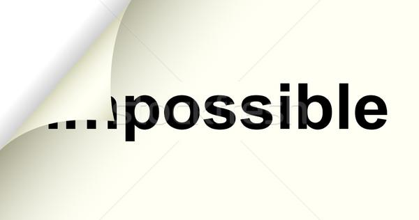 Lehetséges szó lehetetlen absztrakt vállalati jövő Stock fotó © mtmmarek