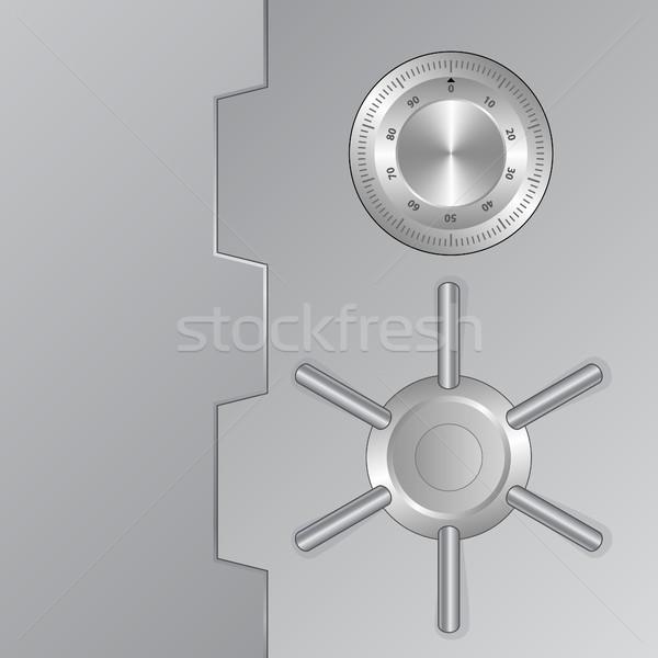Bezpieczeństwa front widoku bezpieczne metal piersi Zdjęcia stock © mtmmarek