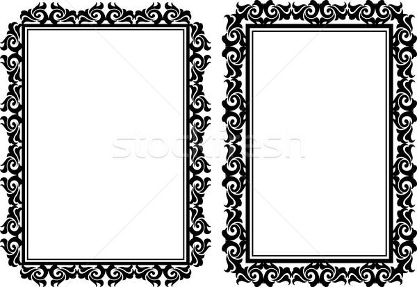 Rechthoekig frames decoratief silhouet grafische grens Stockfoto © mtmmarek