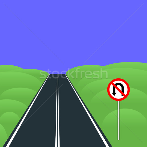 No U-turns Stock photo © mtmmarek
