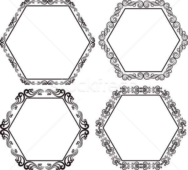 hexagonal frame Stock photo © mtmmarek