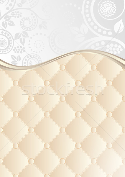 floral background with quilted pattern Stock photo © mtmmarek