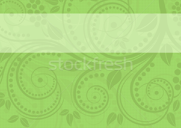 Verde floral adornos fondo ola planta Foto stock © mtmmarek