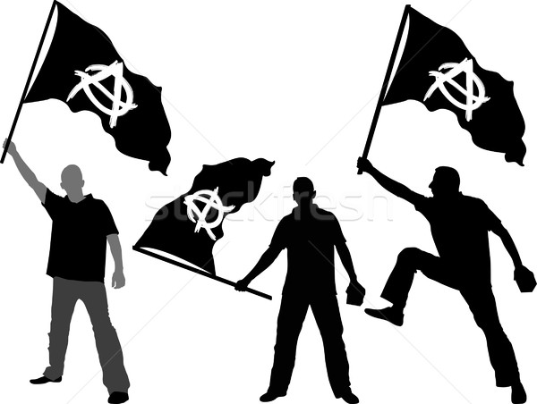 flag of Anarchy  Stock photo © mtmmarek