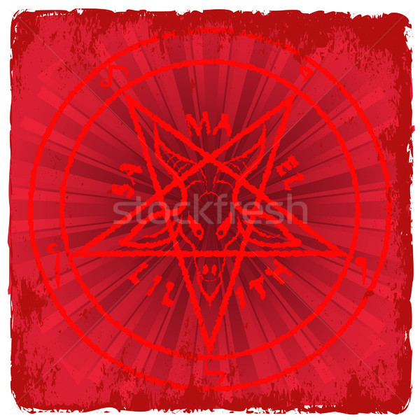 Stock photo: pentagram