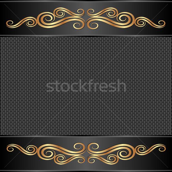 черный украшения золото ретро гламур Сток-фото © mtmmarek