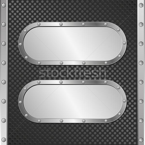 два стали Баннеры черный технологий Сток-фото © mtmmarek