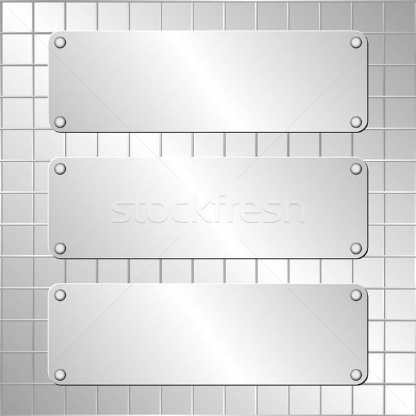 металлический три аннотация дизайна фон искусства Сток-фото © mtmmarek
