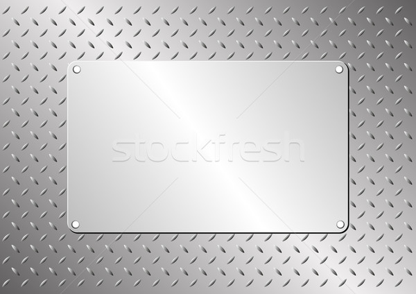 Metall Plaque Stahl Blatt Textur Technologie Stock foto © mtmmarek