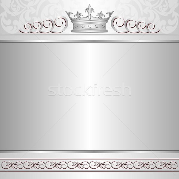 королевский корона дизайна карт Vintage стиль Сток-фото © mtmmarek
