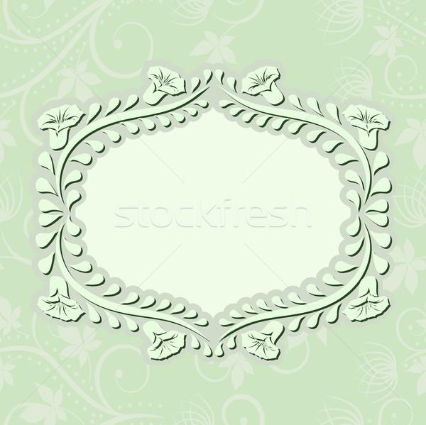 Verde claro floral adornos flores textura resumen Foto stock © mtmmarek