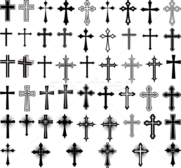Croix clipart illustration signe silhouette religion Photo stock © mtmmarek
