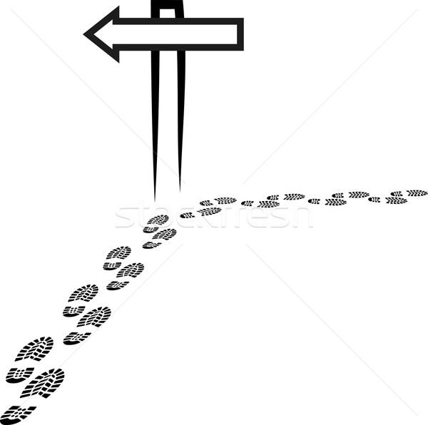 Tabelasını ayak izleri baskı yol ayak izi kavram Stok fotoğraf © mtmmarek