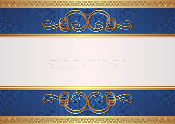 gold and blue background Stock photo © mtmmarek