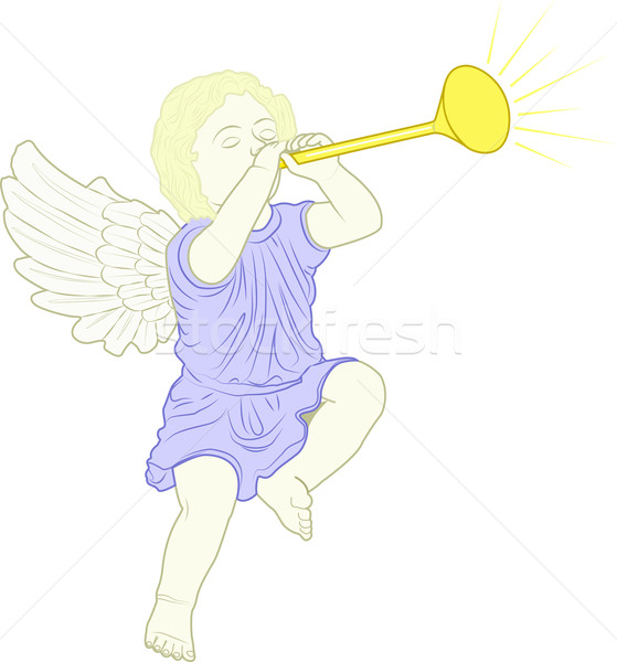 cupid played trumpet Stock photo © mtmmarek
