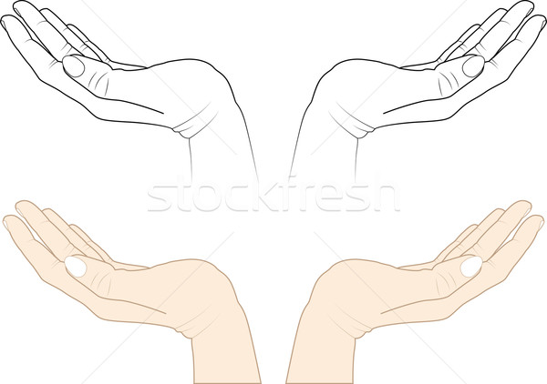 Open Hands Vector Illustration © Marek Trawczynski