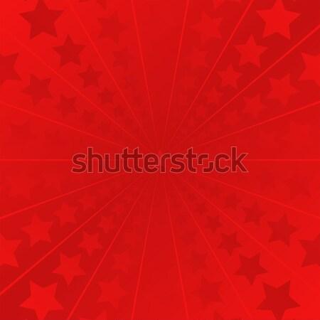 Piros csillagok terv űr kártya minta Stock fotó © mtmmarek