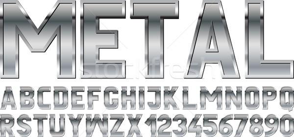Chrzcielnica metaliczny projektu metal przemysłowych stali Zdjęcia stock © mtmmarek