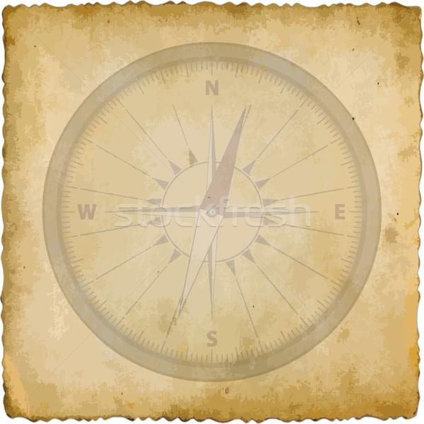 Stock photo: compass