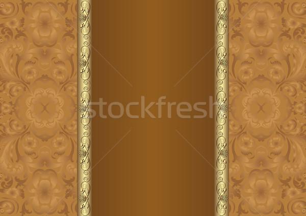 Bruin ornamenten textuur ontwerp ruimte Stockfoto © mtmmarek